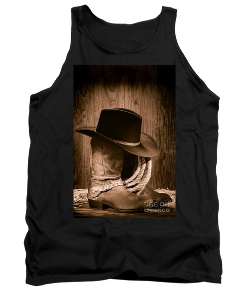 Cowboy Hat And Boots Tank Top