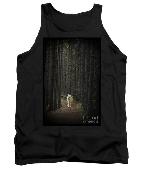 Coyote Howling In Woods Tank Top
