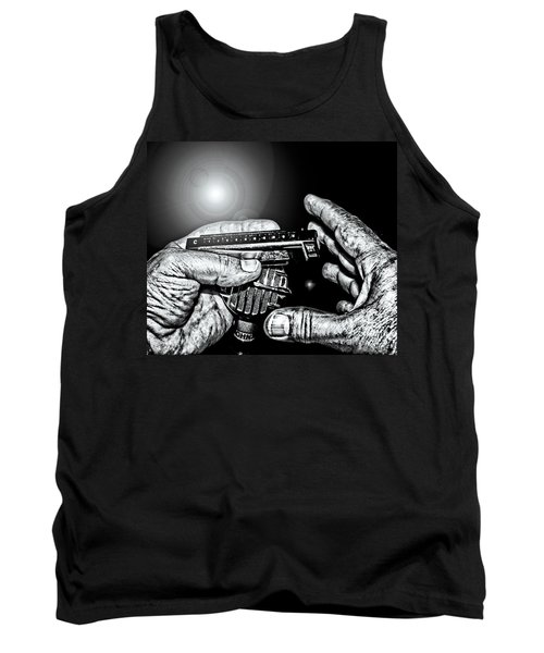 Cross-harp Blues Tank Top by Robert Frederick