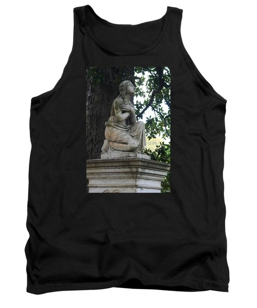 Tank Top featuring the photograph I Cross My Heart Angel by Lesa Fine