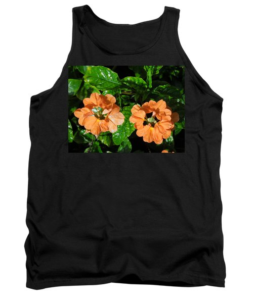 Tank Top featuring the photograph Crossandra by Ron Davidson
