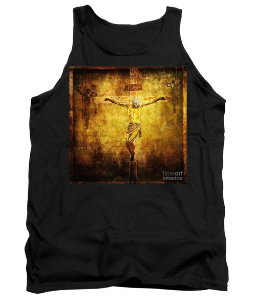 Crucified Via Dolorosa 12 Tank Top by Lianne Schneider