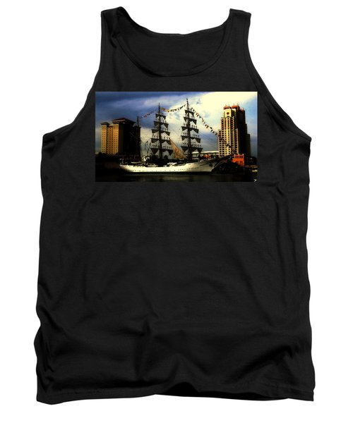 Gloria Sailing Out Of Tampa Florida Tank Top