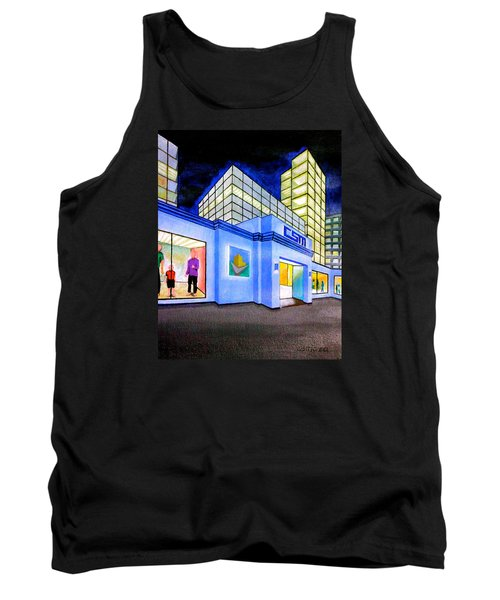 Tank Top featuring the painting Csm Mall by Cyril Maza