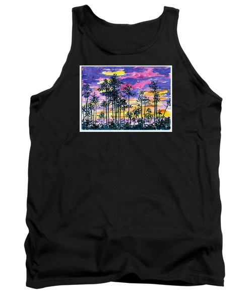Cypress Sunset Tank Top by Anne Marie Brown