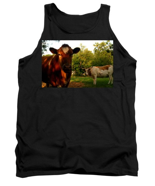 Dads Cows Tank Top by Lon Casler Bixby