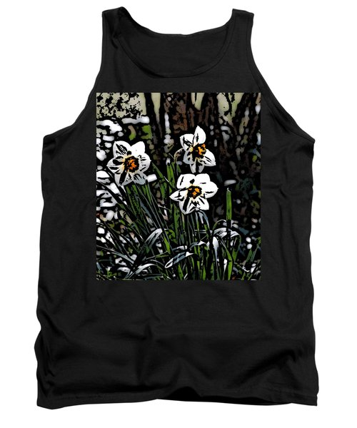 Tank Top featuring the digital art Daffodil by David Lane