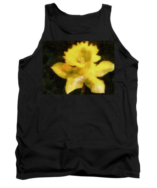 Tank Top featuring the painting Daffodil by Greg Collins