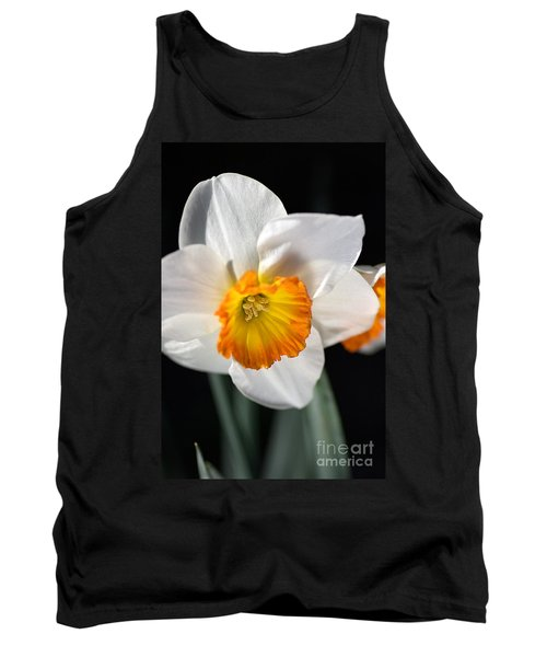 Daffodil In White Tank Top