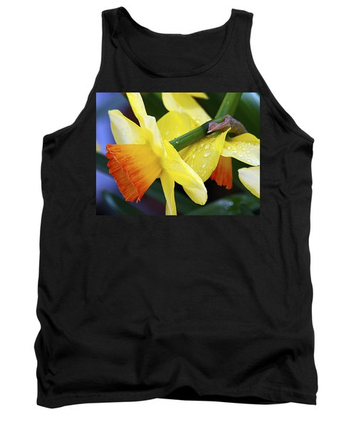 Tank Top featuring the photograph Daffodils With Rain by Joe Schofield