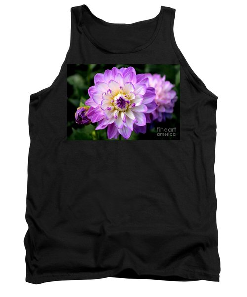 Dahlia Flower With Purple Tips Tank Top