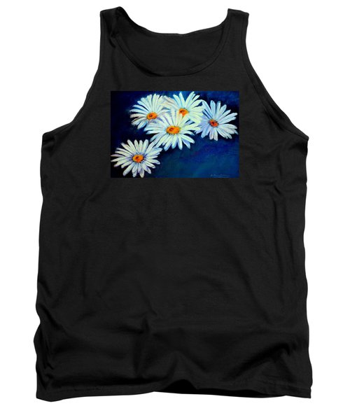 Tank Top featuring the pastel Daisy Fever  Pastel by Antonia Citrino