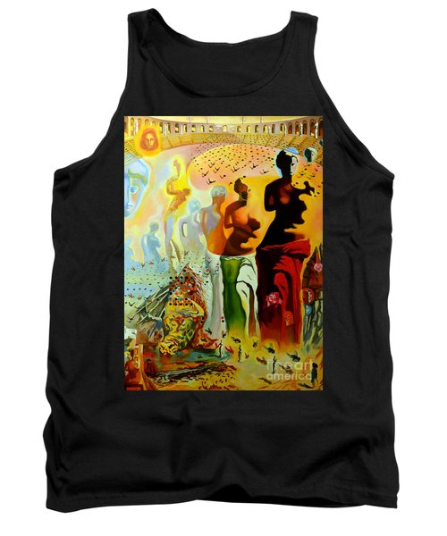 Dali Oil Painting Reproduction - The Hallucinogenic Toreador Tank Top