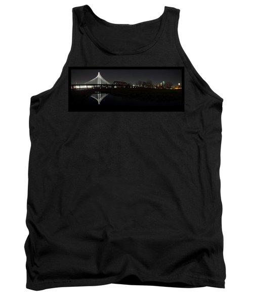 Dallas Skyline Hunt Bridge Color Tank Top by Jonathan Davison