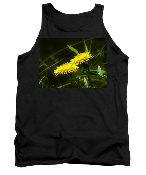 Tank Top featuring the photograph Dandelions by Sherman Perry