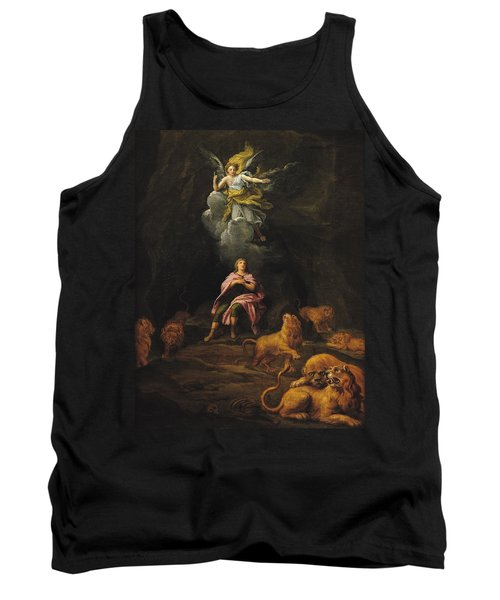 Daniel In The Den Of Lions Oil On Canvas Tank Top