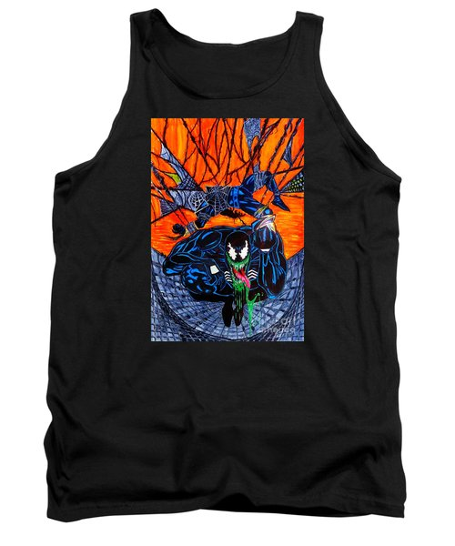 Tank Top featuring the drawing Darkhawk Issue 13 Homage by Justin Moore