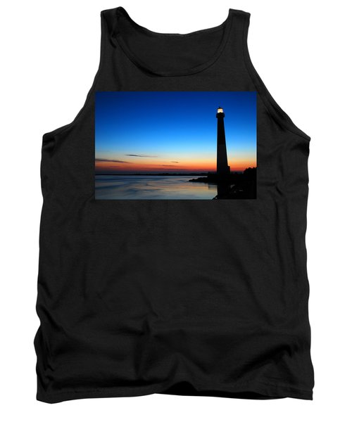 Tank Top featuring the photograph Dawn At Barnegat Light by James Kirkikis