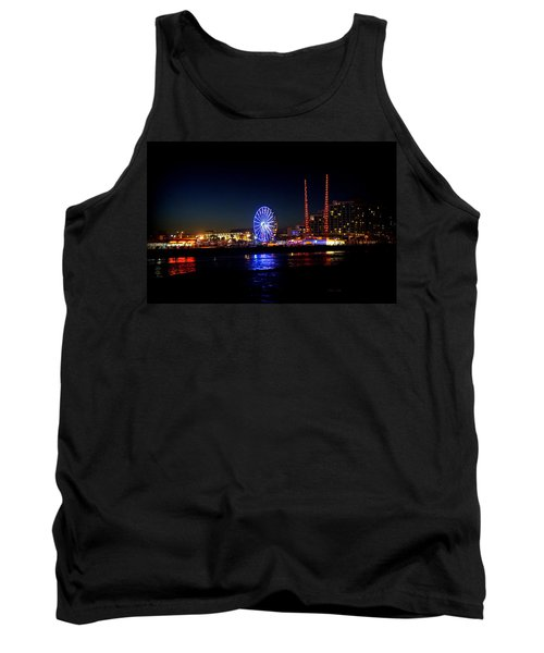 Tank Top featuring the photograph Daytona At Night by Laurie Perry