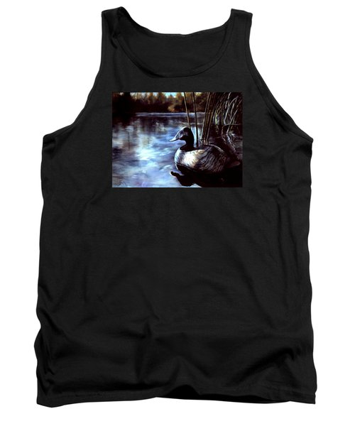 Tank Top featuring the painting Decoy At Tealwood by Pattie Wall