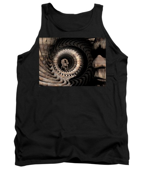 Tank Top featuring the digital art Deep In Thought by John Alexander