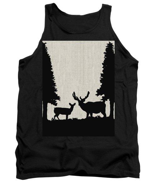 Deer In Forest Tank Top