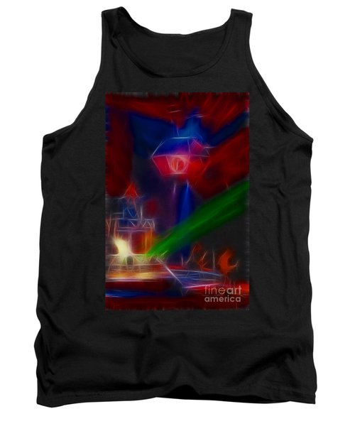 Def Leppard-adrenalize-gf12-fractal Tank Top by Gary Gingrich Galleries