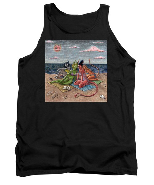 Demon Beaches Tank Top by Holly Wood