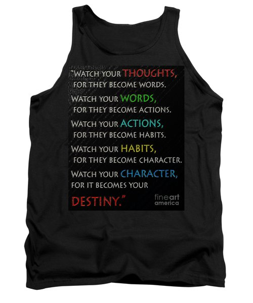 Tank Top featuring the drawing Destiny by Mim White