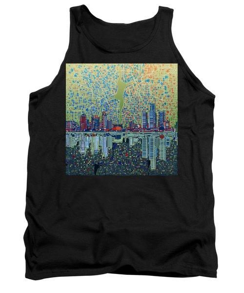 Detroit Skyline Abstract 3 Tank Top