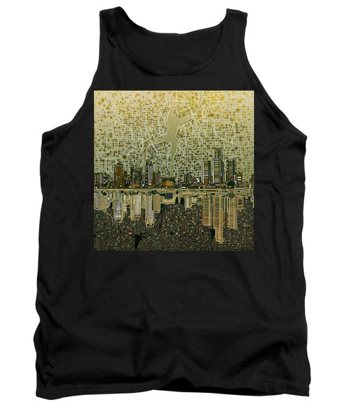 Detroit Skyline Abstract 4 Tank Top