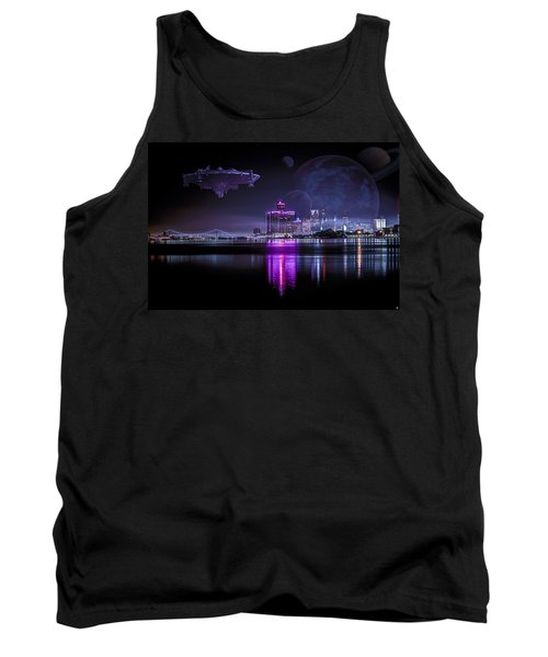 Tank Top featuring the photograph Detroit Worlds by Nicholas  Grunas