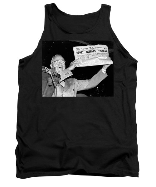 Dewey Defeats Truman Newspaper Tank Top