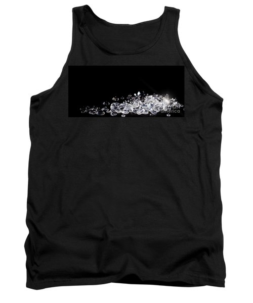 Diamonds On Black Background Tank Top