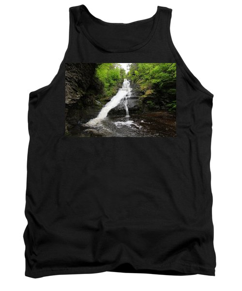 Tank Top featuring the photograph Dingmans Falls by Trina  Ansel