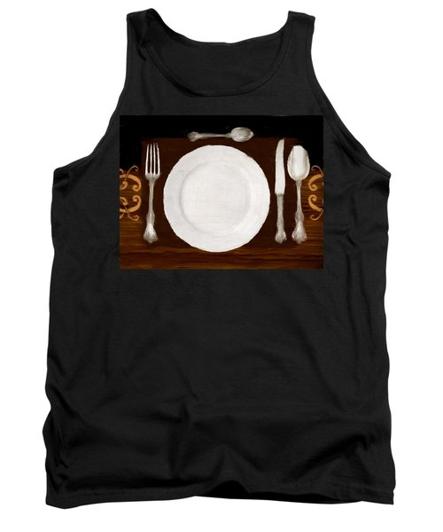 Dinner For One Tank Top