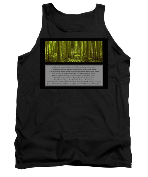 Do It Anyway Bamboo Forest Tank Top