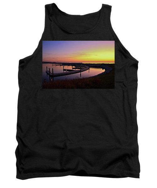 Tank Top featuring the photograph Docks At Sunrise by Jonah  Anderson
