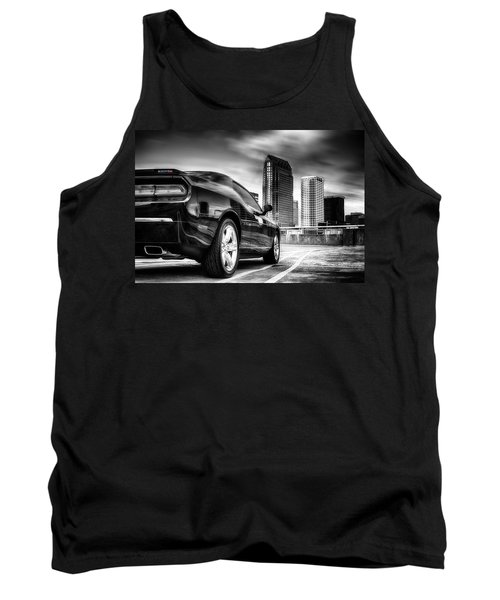 Dodge Challenger Tampa Skyline  Tank Top by Michael White