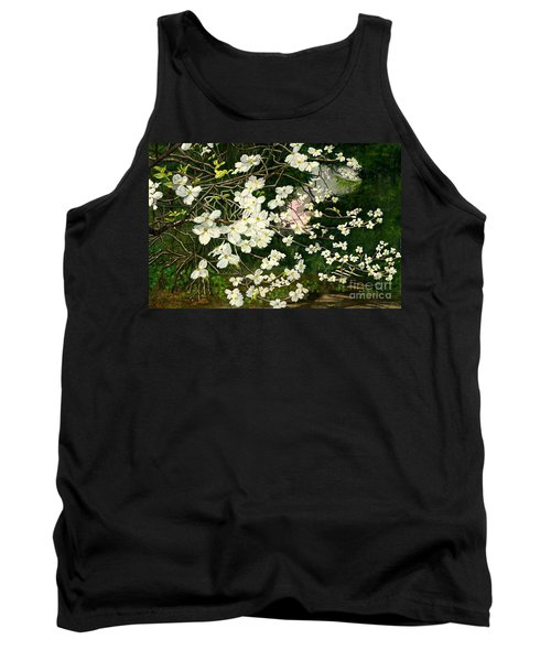 Tank Top featuring the painting Dogwoods Virginia by Melly Terpening