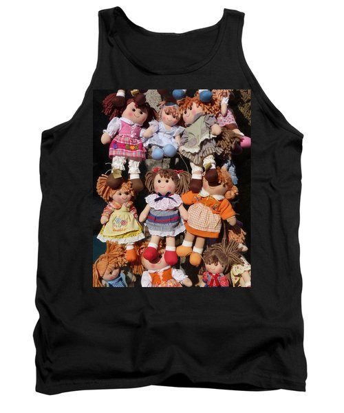 Tank Top featuring the photograph Dolls by Marcia Socolik