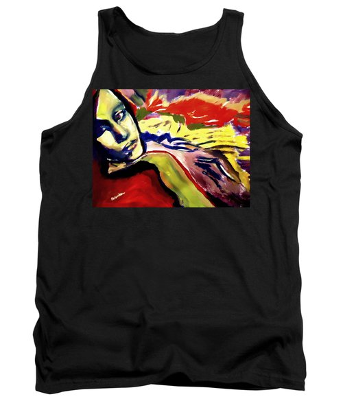 Tank Top featuring the painting Don T Look Back by Helena Wierzbicki