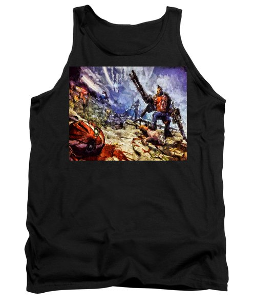 Don't Mess With The Gunserker Tank Top by Joe Misrasi