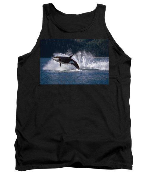 Double Breaching Orcas Bainbridge Tank Top