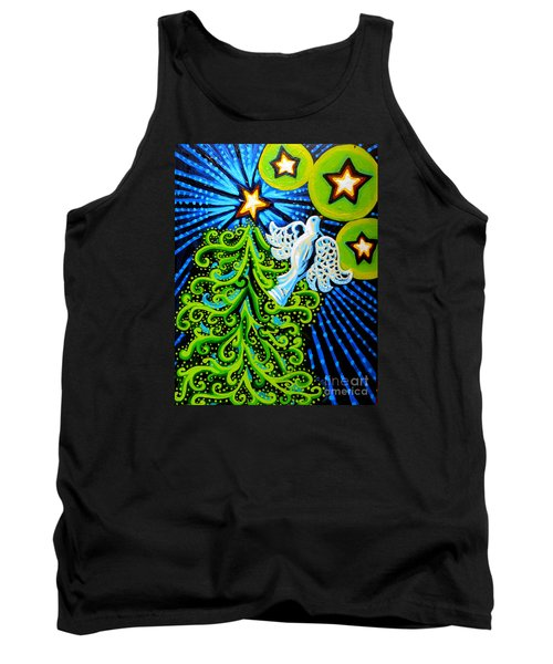 Dove And Christmas Tree Tank Top by Genevieve Esson