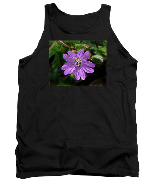 Wild Dovesfoot Cranesbill Tank Top by William Tanneberger