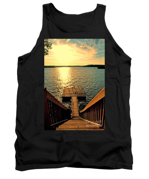 Down To The Fishing Dock - Lake Of The Ozarks Mo Tank Top