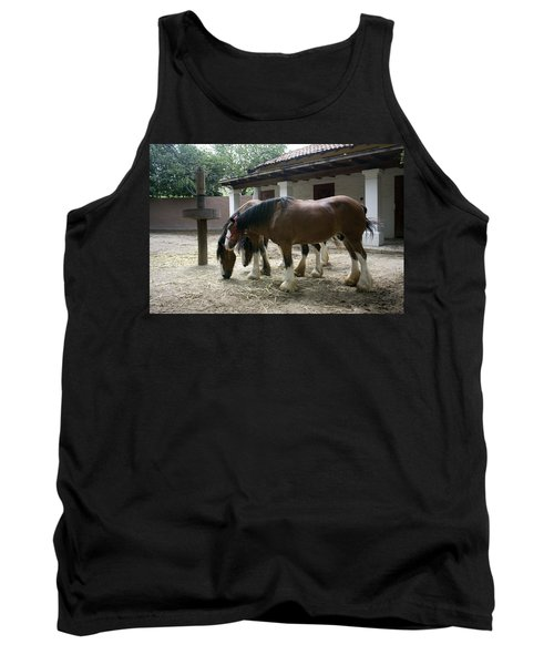 Tank Top featuring the photograph Draft Horses by Lynn Palmer