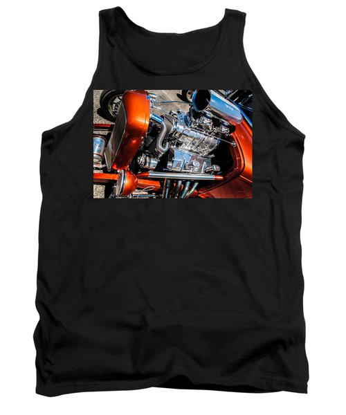 Tank Top featuring the photograph Drag Queen - Hot Rod Blown Chrome  by Steven Milner