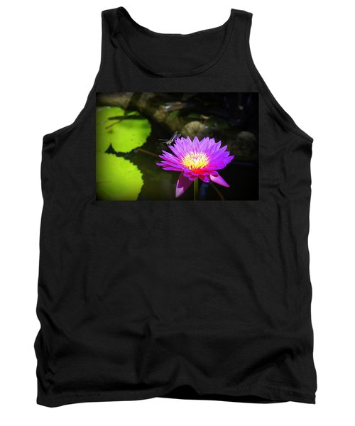 Tank Top featuring the photograph Dragonfly Resting by Laurie Perry